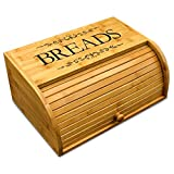 Cookbook People Original Rolltop Bread Box Bamboo Storage Bin