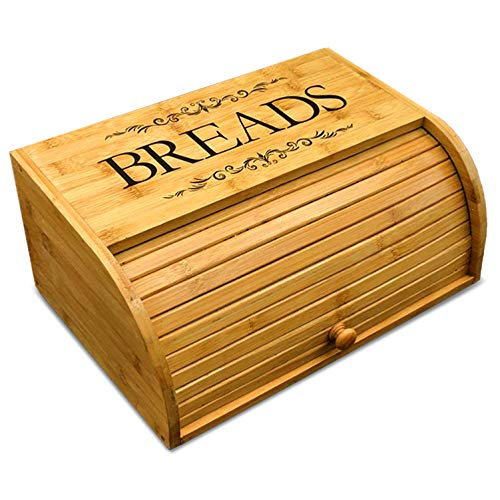 Lowest Prices! Cookbook People Original Rolltop Bread Box Bamboo Storage Bin