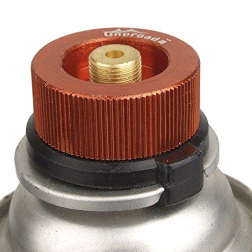 Homiki - Adapter / Anschlussstück für Gas-Kartuschen, für Campingkocher, für draußen, Kartusche mit automatischem Verschluss, Verbindungsstück zum Umwandeln von Gaskocheranschlüssen