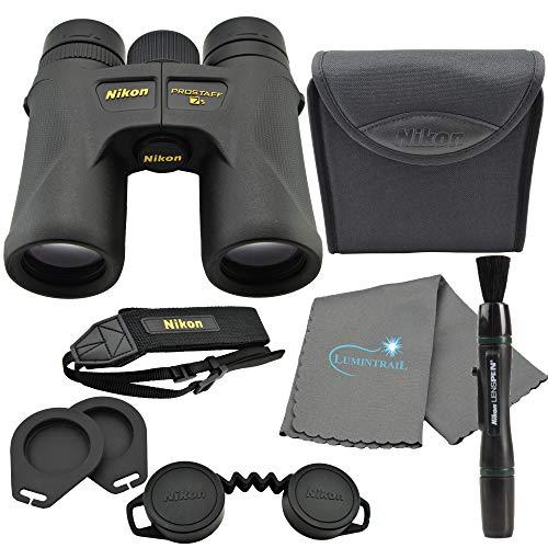 Nikon 16003 10x42 ProStaff 7S Binoculars All-Terrain Waterproof and Fogproof (Black) Bundle with Nikon Lens Pen and Lumintrail Cleaning Cloth
