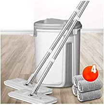 JSZMD Free Hand Wash Mop Household Flat Mop Wood Floor Wet and Dry Mop Bucket Set