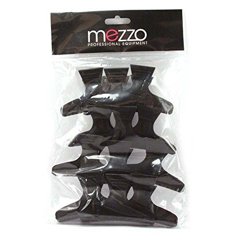 Promex AXS021 Pack de 12 Pinces Croco Longues Noires