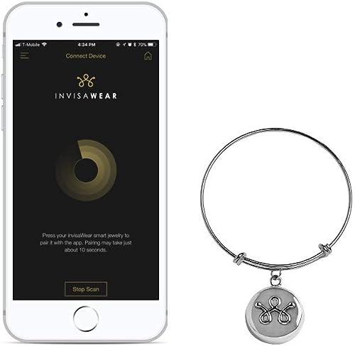 invisawear Smart Jewelry - Personal Safety Device - Silver Expandable  Bracelet : Amazon.co.uk: Jewellery