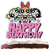 Superhero Girls Cake Topper Happy Birthday Cartoon Theme Decor for Baby Shower Birthday Party Decorations Supplies Acrylic