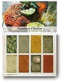 Tandoori Chicken – 8 Gewürze im Set für das indische Hühnergericht (40g) – in einem schönen Holzkästchen – mit Rezept und Einkaufsliste – Geschenkidee für Feinschmecker – von Feuer & Glas