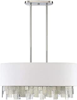 Savoy House 1-20003-6-109 Fairmont Chandelier, 6-Light 600 Total Watts, Polished Nickel