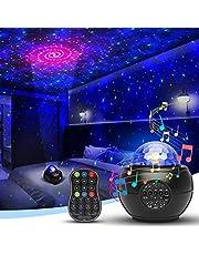 DMYCO Lámpara Proyector Estrellas, Proyector de Luz Estelar Lámpara de Nocturna Océano con 21 Modos/Bluetooth/Temporizador/Remoto
