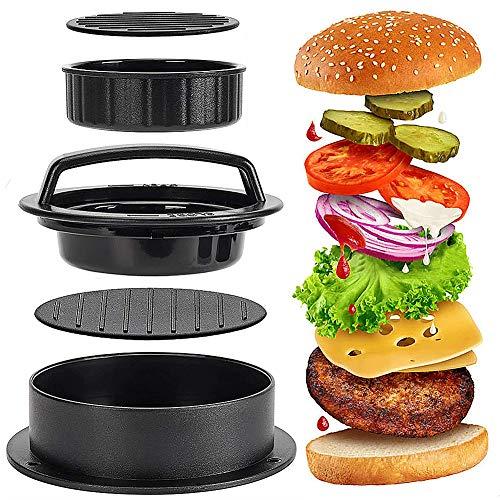 CHEPL Stampo per Hamburger Pressa per Carne Hamburger Ripieno Burger Maker per BBQ Grill e Cucina Plus 50 Fogli di Carta antiadesiva in Omaggio