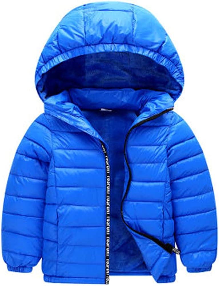 Unisex Kids Todder Winter Coat, Fleece Fur Lining Hooded Jacket Lightweight Winter Warm Coat Outwear