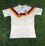 HUUMA 1990 World Cup Germany Jersey, Retro Home Classic Jersey T-Shirt
