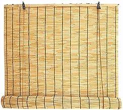 MY1MEY Rolgordijn, bamboegordijn, inkijkbescherming, rolgordijnen voor binnen en buiten, tuin, ramen, meerdere maten voor ...