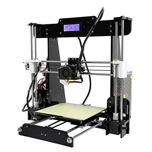 Kits d'imprimante 3D de Bureau de Haute précision, extrudeuse à Monter soi-même, écran LCD avec Carte SD, Support PLA, ABS, TPU, Format d'impression 220 * 220 * 240mm,Black