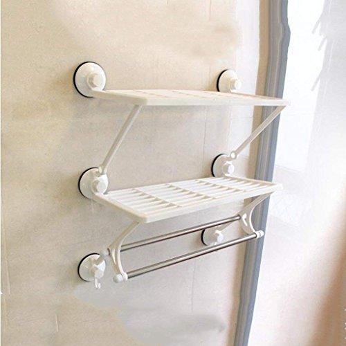 WANNA.ME Handtuchhalter Starke Saugnapfstange Regale Doppelzimmer Doppelzimmer mit Bad Zimmer Bad Handtuchhalter