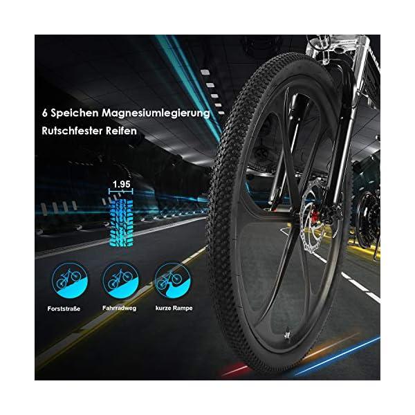 51+3K197pQL. SS600  - ANCHEER Faltbares E-Bike Elektrofahrrad mit 250W Motor, 26 Zoll Mountainbike Klapprad Pedelec 36V 8AH Lithium Akku 21-Gang Getriebe 20 Meilen