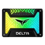 Team RGB(発光型) SSD DELTAシリーズ 500GB SATA3接続 2.5インチ 9.5mm厚 5V RGB Header専用 Black 日本国内3年保証 正規品