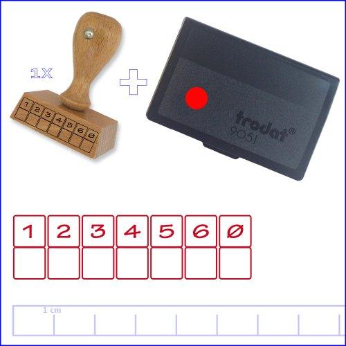 Lehrerstempel-2er-Set Notenspiegel+Rotes Stempelkissen