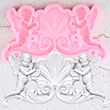 FGHHT AngelBorder Silicone Mold Relief DIY Party Fondant Cake Decorating Tools Candy Clay Chocolate Gumpaste Moulds