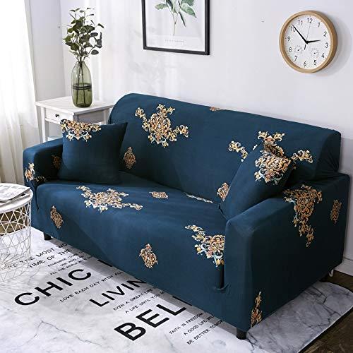 WXQY Funda de sofá Floral elástica en Forma de L Funda de sofá de Esquina combinación protección para Mascotas Funda de sofá Antideslizante combinación A19 4 plazas