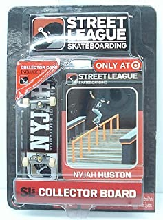 Ronin Syndicate Street League Skateboarding Pro Series 1 Black Skateboard & Nyjah Huston Collector Card Target Exclusive