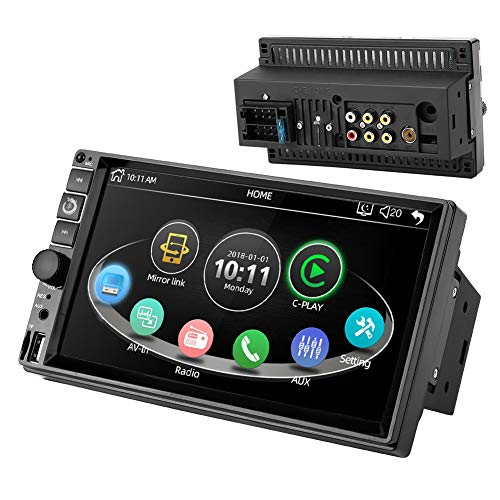 Reproductor Multimedia para coche con pantalla de 7 pulgadas, reproductor MP5 de un solo DIN, resolución de 1024x600, accesorio automático, estéreo para coche, radio de coche de un solo DIN