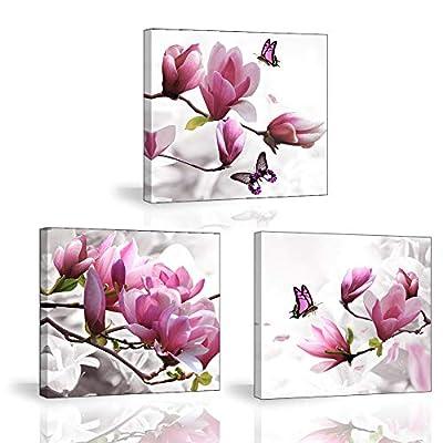 1: La pintura de orquídeas florecientes y elegantes expresa el encanto de la vida, hace que su día esté lleno de vitalidad y energía: la atmósfera noble llenará su hogar. Un muy buen regalo para tus amigos o amor en el cumpleaños. Muy buena decoració...