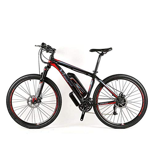 AISHFP Adult Mountain Electric Bike, All-Terrain Offroad 48V Lithium Battery Electric Bicycle, with LCD Display Aluminum Alloy Mens E-Bikes 27 Speed,26Inch
