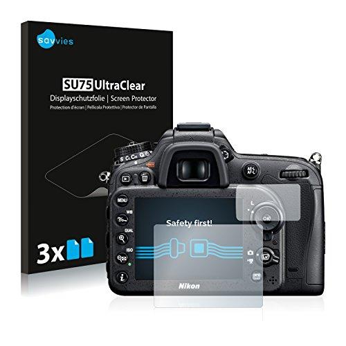 savvies 6-Pezzi Pellicola Protettiva Compatibile con Nikon D7100 Protezione Schermo Trasparente