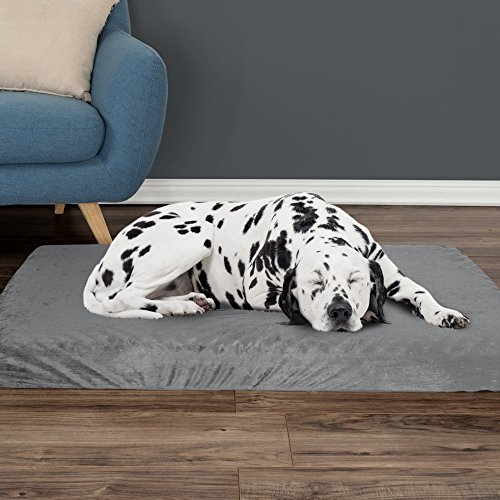 Orthopedic Pet Bed - Egg Crate and Memory Foam with Washable Cover 46x27x4 by PETMAKER - Gray Idaho