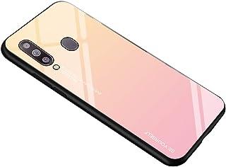 Caler Funda Vidrio Templado 9H Compatible con Samsung Galaxy M30 [Carcasa Gradiente] Estuche Silicona Suave TPU Bumper y M...