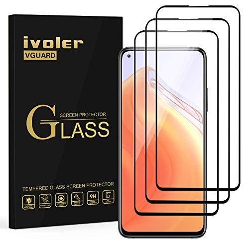 ivoler 3X Panzerglas Schutzfolie für Xiaomi Poco X3 Pro / X3 NFC / X3 / Xiaomi Mi 10T / 10T Pro / 10T Lite/Redmi Note 9S / Note 9 Pro, Volle Bedeckung Panzerglasfolie Folie Hartglas Gehärtetem Glas
