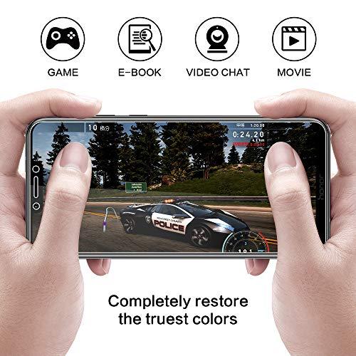 DOSNTO [2 Stück Panzerglas Schutzfolie für Huawei Honor Play, 9H Härte, Anti-Kratzer, Anti-Öl, Anti-Bläschen, Anti-Fingerprint Displayschutzfolie Panzerglasfolie - 4