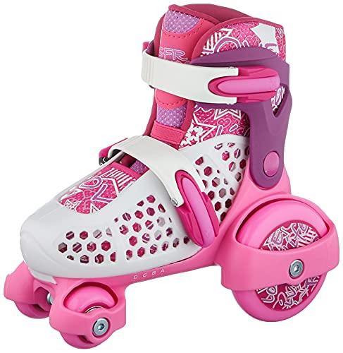 SFR Stomper Adjustable Skates, Unisex Kids, Pink, 28/32
