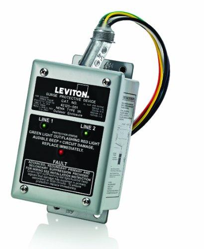Leviton 42120-1 120/240 Volt Single Phase Panel Protector, 4-Mode Protection, Commercial Grade, NEMA 3R Enclosure