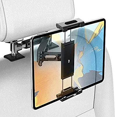 """AHK Car Headrest Mount Holder, Universal for iPad Pro/Air/Mini, Tablets, Nintendo Switch, iPhone, Samsung Galaxy/Note, Smartphones, Compatible with 4.5"""" to 12.9"""" Device, 360° Rotation"""