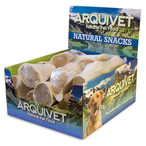 Arquivet Expositor 20 Unidades Hueso Relleno de Pollo - Snacks Naturales para Perros - Chuches para Perros - Golosinas para Perros - Premios y recompensa para Perros