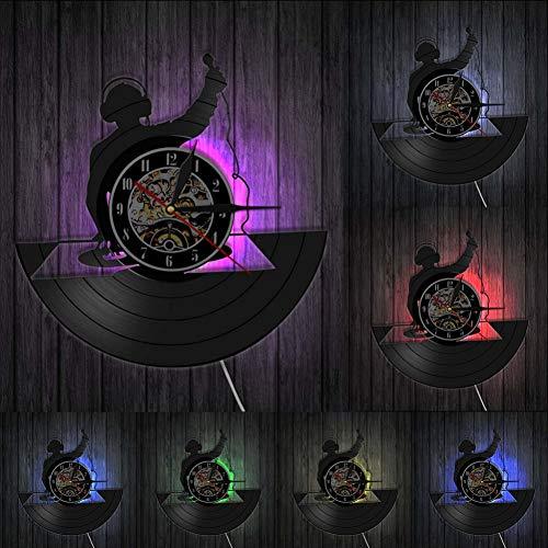 ttymei Tocadiscos DJ Reloj de Pared Personalizado para Pared