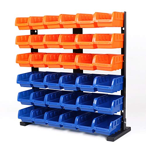 HORUSDY 36-Pcs Bin Storage Rack Shelving Garage Storage - Best Unique Tool Gift for Men