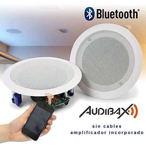 "Audibax CM508L-BT Bluetooth Pareja Altavoces Empotrable Techo 20W 5,25"""
