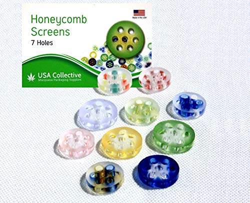 25 Pack Aura Honeycomb Frosted Glass Screens 7-9mm Diameter - Made in USA