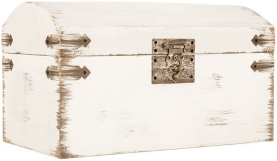 KCHEX Elegant Shabby Chic Antique White Wedding Card Gift Box Vintage Wishing Well