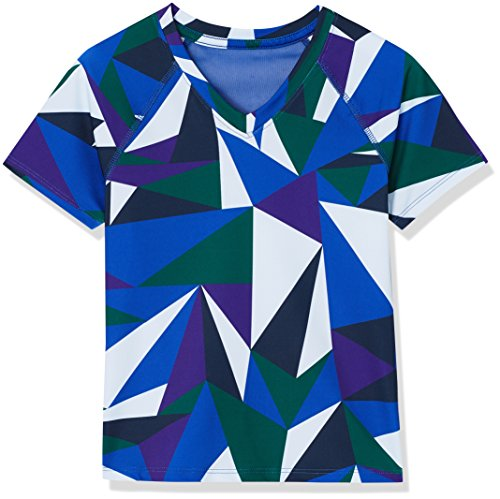 Amazon-Marke: RED WAGON Mädchen Sport Top mit geometrischem Muster, Blau (Blue Abstract Print), 110, Label:5 Years