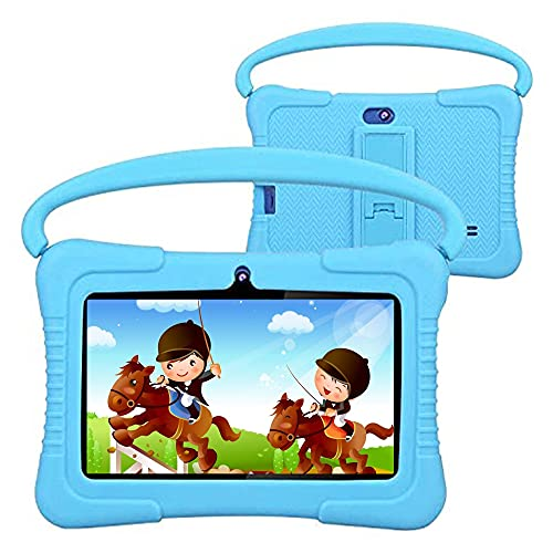 Kids Tablet, Foren-Tek K88 7 Inch Android 9.0 Tablet for Kids, 2GB RAM +32GB ROM, Kid Mode Pre-Installed, WiFi Android Tablet, Kid-Proof Case (Blue)