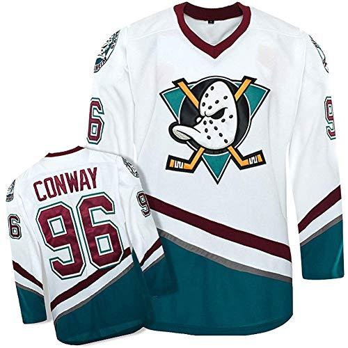 JesUsAvila Charlie C-onway.s #96 Mighty Duck Película Hockey Sobre Hielo Hombre Jersey Sudadera Transpirable Camiseta Ropa Manga larga/A/S