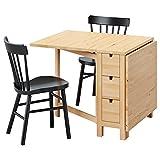 IKEA NORDEN / NORRARYD - Mesa y 2 sillas de abedul / negro