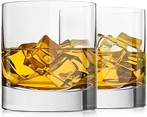 LUXU Crystal Whiskey Glasses 13oz Heavy Base Old Fashioned Rocks Glasses Lowball Bar Glasses product image
