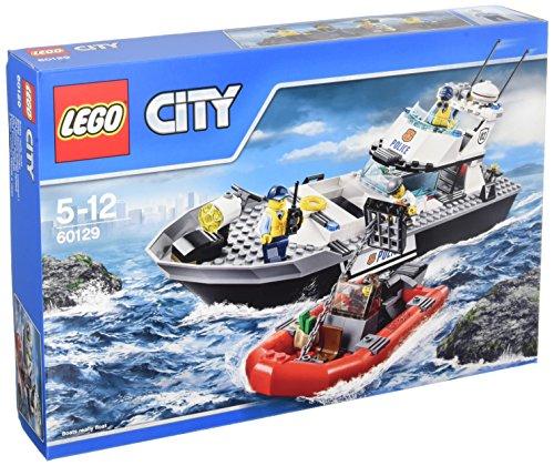 LEGO - Barco patrulla de la policía, multicolor (60129) , Modelos/colores Surtidos, 1 Unidad