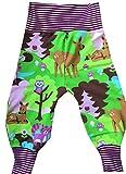 Babyhose Gr. 80 verschiedene Muster, Eule Reh Fuchs Baby Pumphose, Sweathose C-Fashion-Design