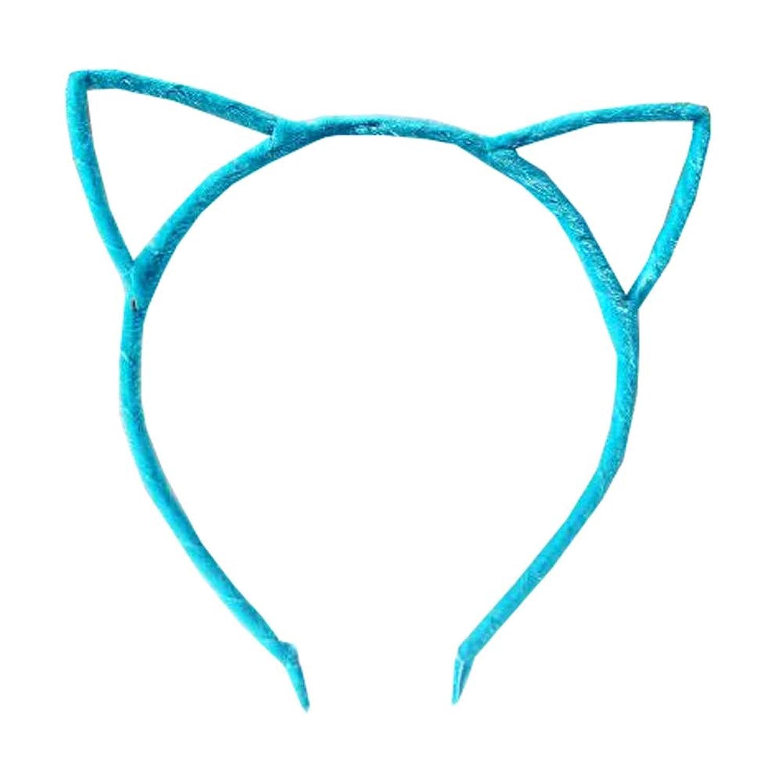 猫の耳のヘッドバンドヘアフープヘアバンドメイクアップヘッドウェアファッションヘッドバンド - F