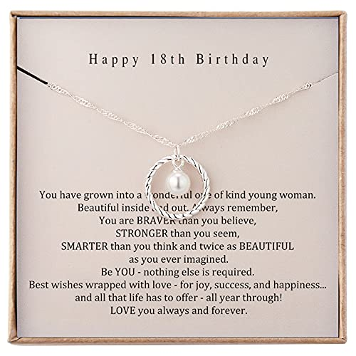 18th Birthday Gifts for Girls 18th Birthday Decorations for Girls Sterling Silver Necklace for Her...