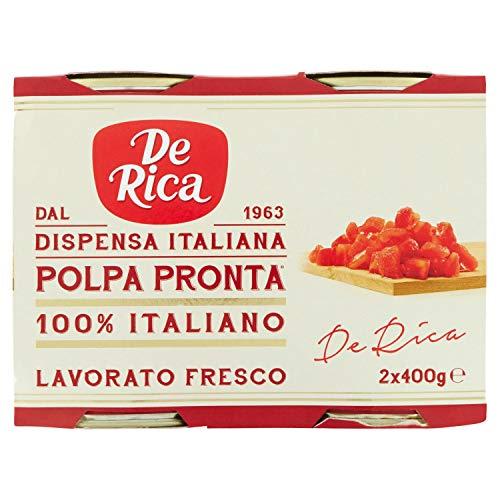 De Rica Polpa Pronta di Pomodoro, 2 x 400g,